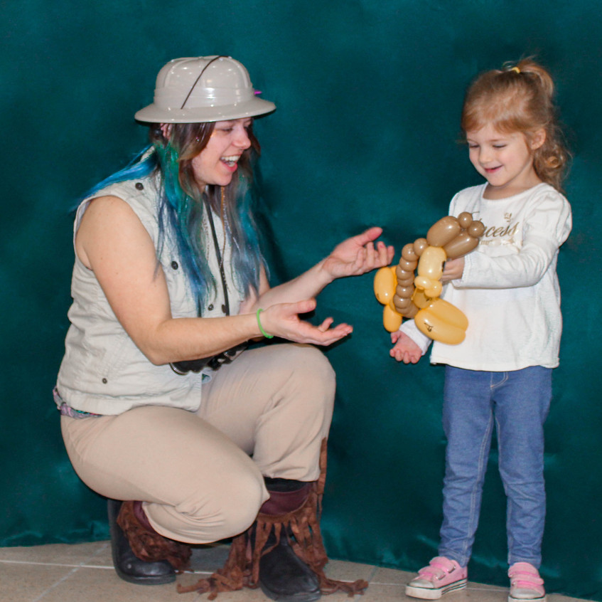 Animal Safari Party Character with Earth Fairy Entertainment in Portland Oregin, kids event, themed, entertainer inaured