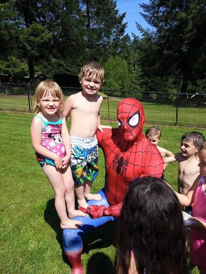 SpiderMan with Earth Fairy Entertainment in Portland Oregon, Vancouver Washingto