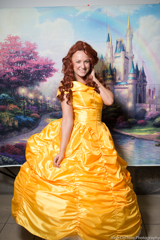 Princess Belle look alike impersonator with Earth Fairy Entertainment in Portland Oregon, party, cor