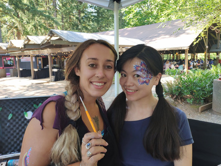 We have amazing face painters