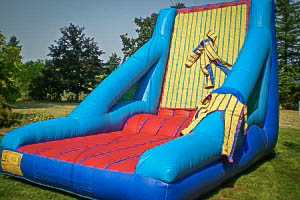 Inflatable Velcro Wall Game with Earth F