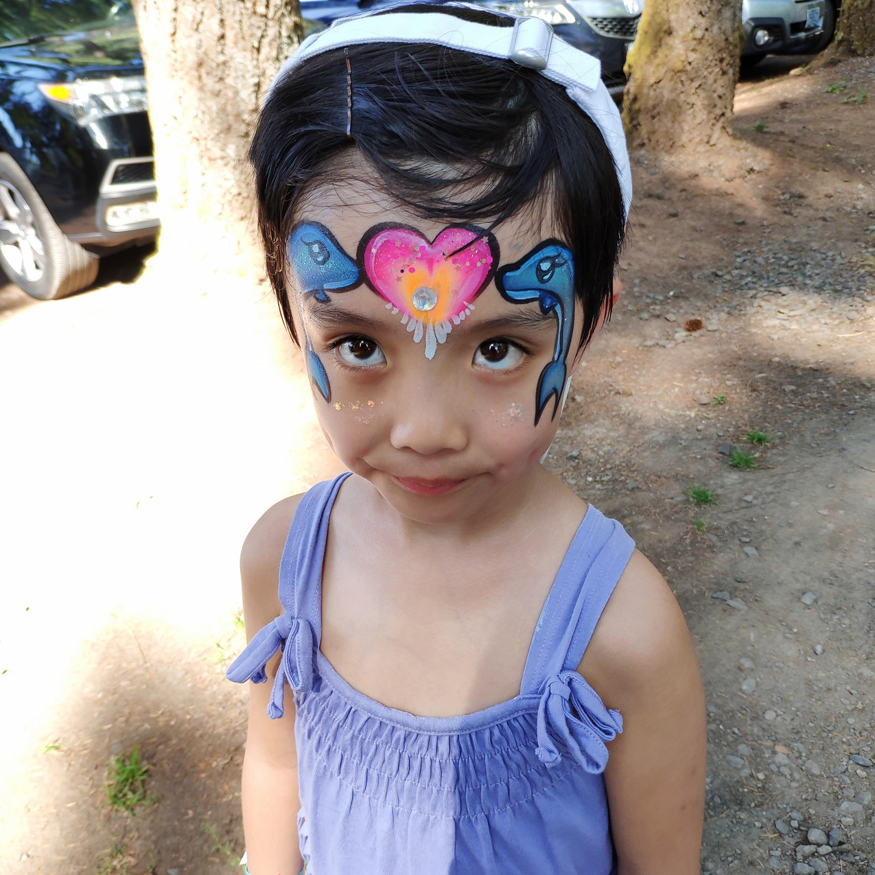Portland Oregon Face Painting by Earth F