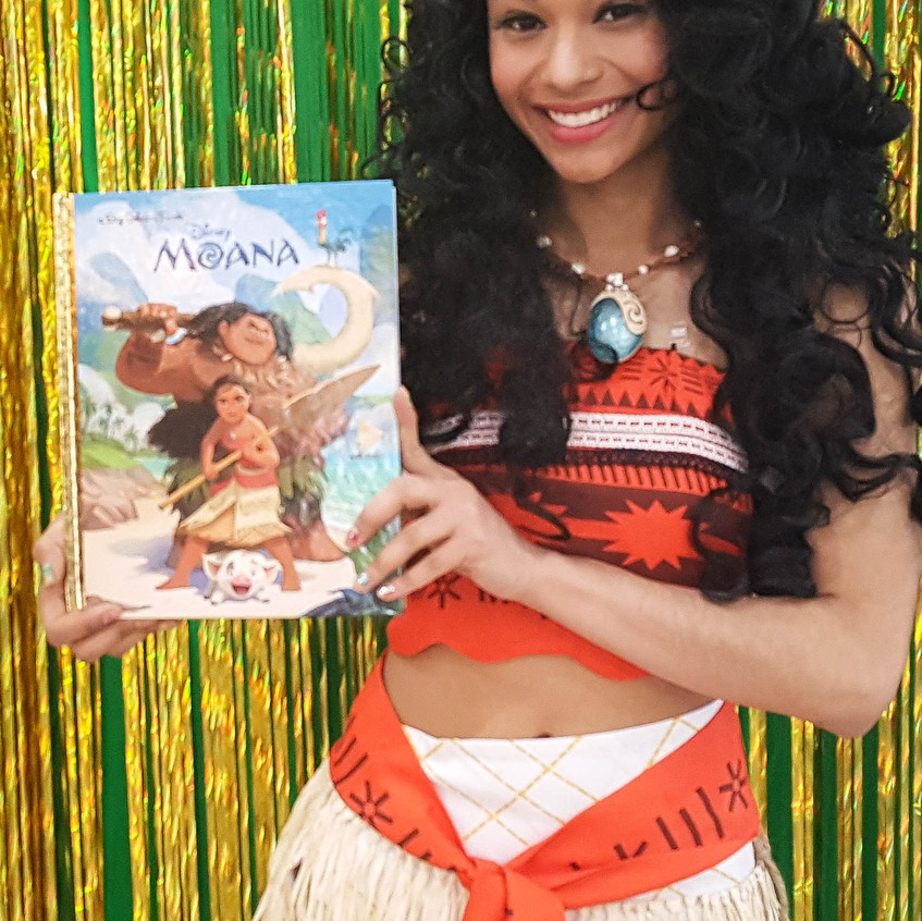Princess Party with Earth Fairy Entertainment in Portland Oregon, Luaua, Hawaiian, Moana impersonator, birthday character