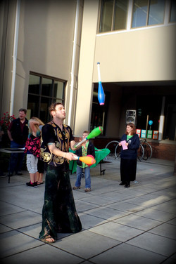 Stilt walking for hire or rent with Earth Fairy Entertainment in Portland Oregon