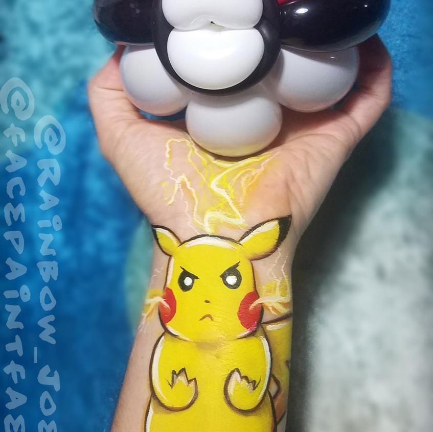 Pokemon Face Paint and Balloon Twist in