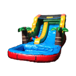14 foot water slide and pool with Earth