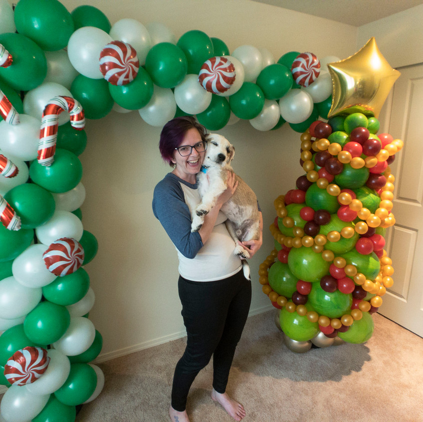 Balloon Party Decor with Earth fairy Ent