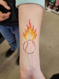 Waterproof Temporary Airbrush Tattoo wit