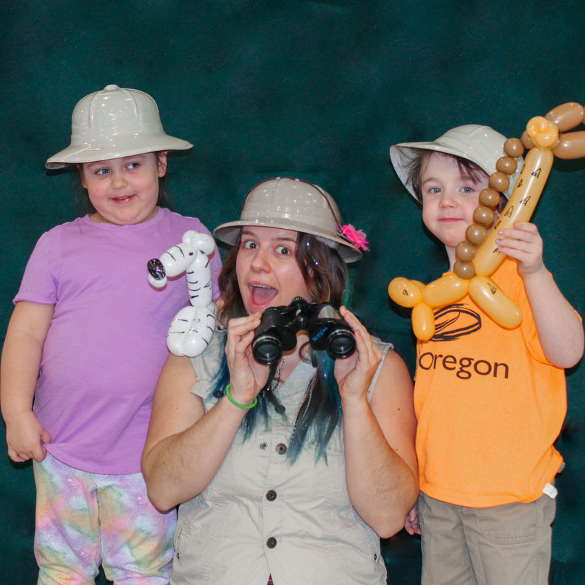 Animal Safari Party Character with Earth Fairy Entertainment in Portland Oregin, kids event, themed, entertainer, zebra