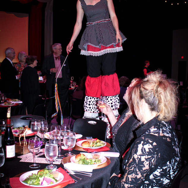 stilt walkers and circus performers with Earth Fairy Entertainment in Portland Oregon, juggler, magician.,