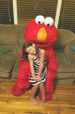 Elmo character impersonator look alike with Earth Fairy Entertainment in Portland Oregon, Sesame Str