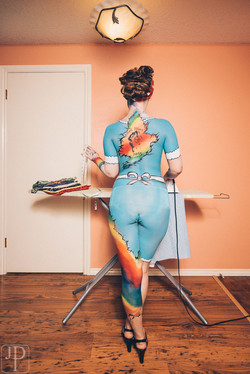 Love Wins body paint by artist Sarah Pearce with Earth Fairy Entertainment from