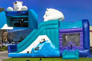 Polar Bear Inflatable Bounce House Slide