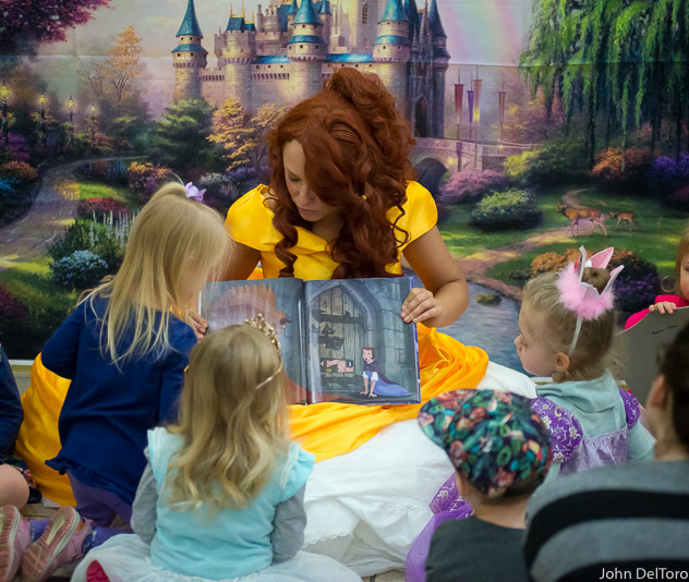 Princess Belle look alike impersonator with Earth Fairy Entertainment in Portland Oregon, party, corporate, event, fun girls