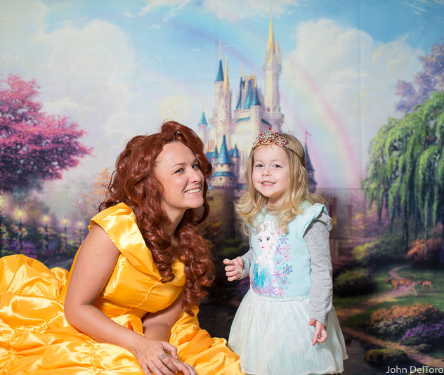 Princess Belle look alike impersonator with Earth Fairy Entertainment in Portland Oregon, party, corporate