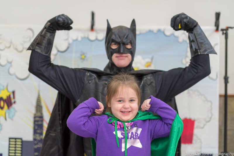 Bat Hero Man costume character appearance by Portland Party Characters in Oregon, kids super hero birthday party, hire professional entertainer, Hillsboro, Vancouver, cor