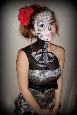 Sugar Skull by Sarah Pearce at Earth Fairy Entertainment, professional face and