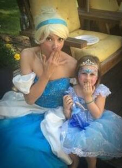 Cinderella look alike costume character appearance by Earth Fairy Entertainment in Portland Oregon a