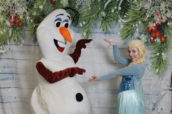 Princess and holiday corporate entertainment with Earth Fairy Entertainment, Elsa and Olaf impersona