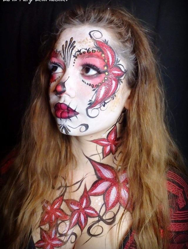 Day of the Dead, Sugar Skull,  face pain