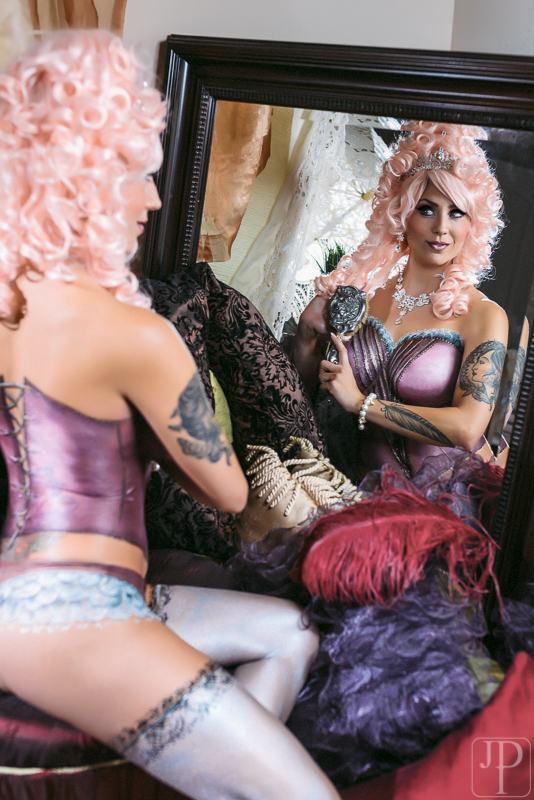 Lingerie Body paint by artist Sarah Pearce with Earth Fairy Airbrushing in Portland Oregon, professi