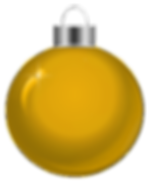 Transparent_Christmas_Yellow_Ornament_Cl