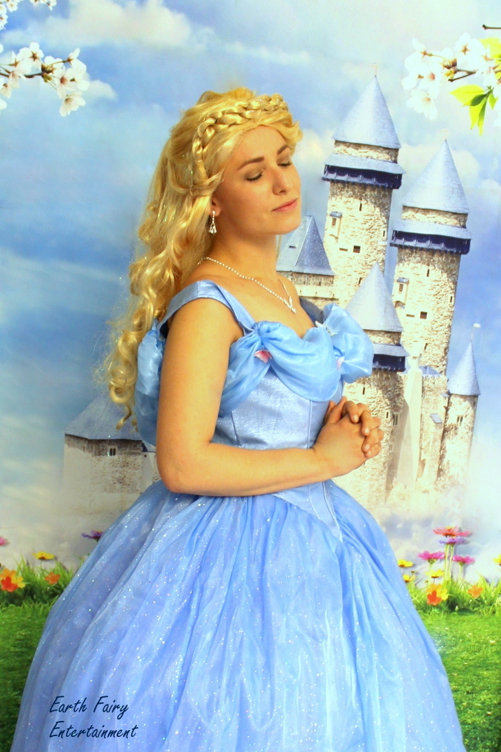 Princess Party with Earth Fairy Entertainment in Portland Oregon, Cinderella look alike, butterfly,