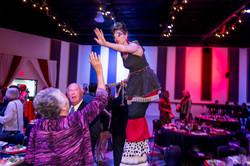 stilt walker, acrobatic staged performance, professional corporate entertainers in Portland Oregon w