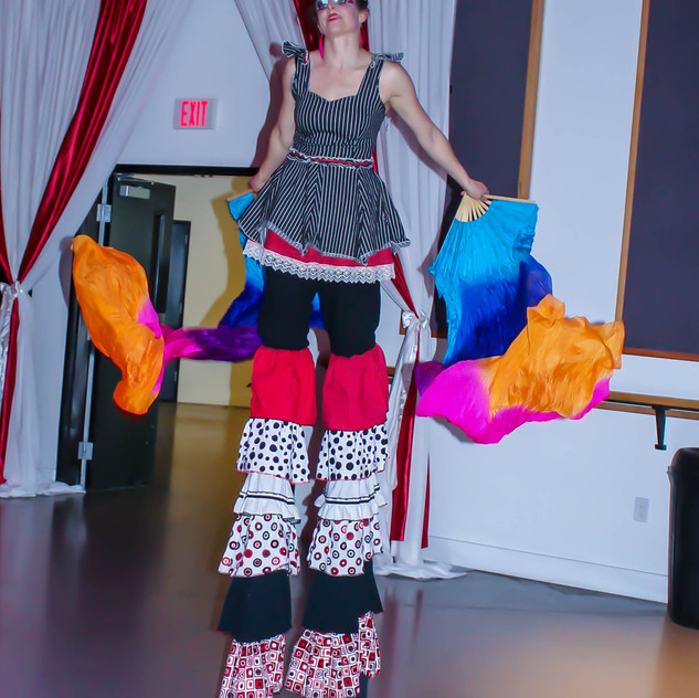 stilt walkers and circus performers with Earth Fairy Entertainment in Portland Oregon, juggler, magician, juggling