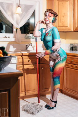 Love Wins body paint by artist Sarah Pearce, Earth Fairy Entertainment from Port
