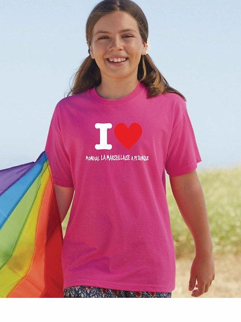 """Tshirt enfant """"I love Mondial"""""""