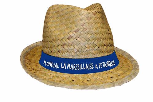 Chapeau de paille Mondial La Marseillaise à Pétanque