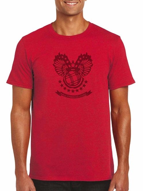 Tshirt rouge boule de pétanque ailée