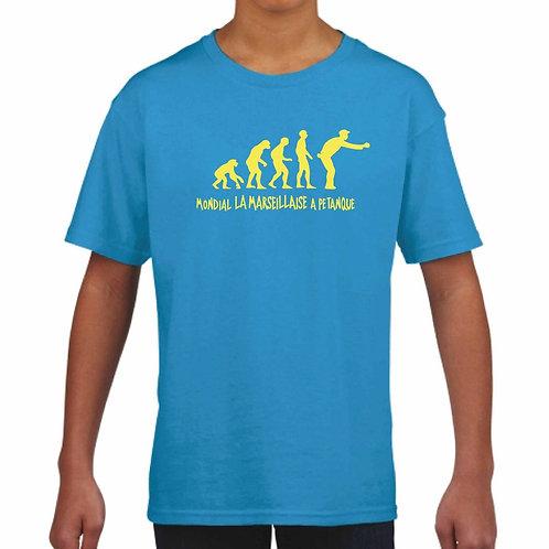 Tshirt enfant évolution Mondial La Marseillaise à Pétanque