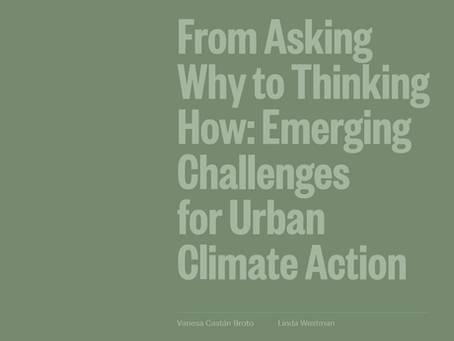 COP26 Briefings: From asking why to thinking how: emerging challenges for urban climate action