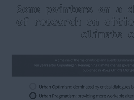 Timeline: a decade of research on cities and climate change