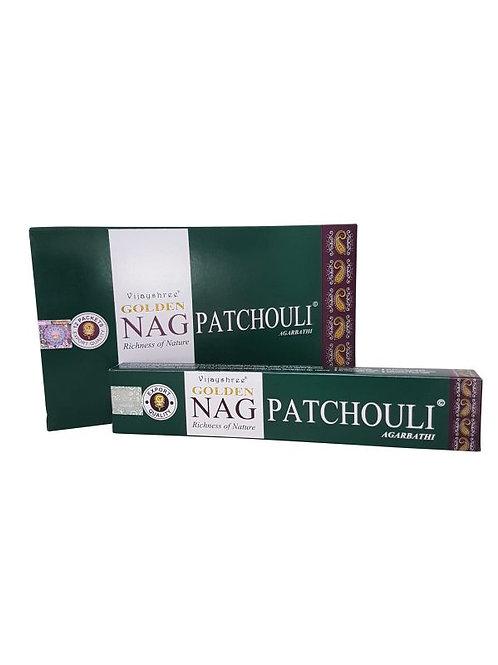 Wierook Golden Nag Patchouli 22x4.5x2 cm