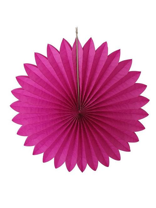 papieren abstract decoratie versiering bol kerst feest feestje opvouwbaar roze paars fuchsia bloem ster