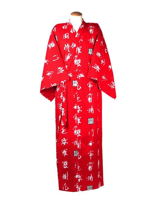Yukata 100% katoen characters  rood