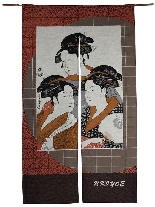 Noren Japan deur gordijn three ladies