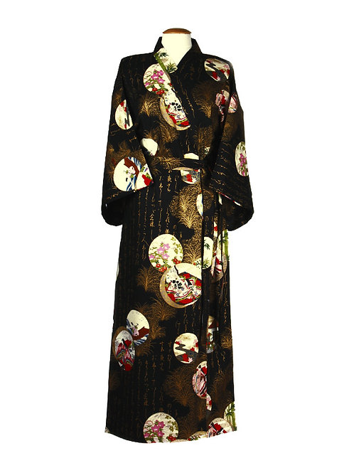 Kimono 100% katoen Princess zwart