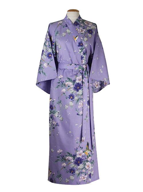 Kimono 100% katoen  Magnolia  paars