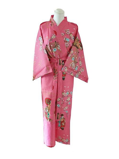 "Kimono katoen 55"" Maiko  roze"