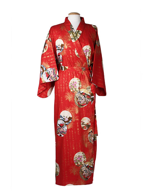 Kimono 100% katoen  Princess rood