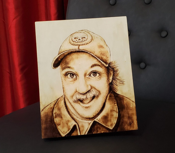Pyrography ~ Mike Lavallee Portrait