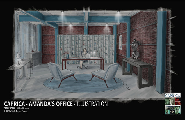 CAPRICA - AMANDA'S OFFICE ILLUSTRATION