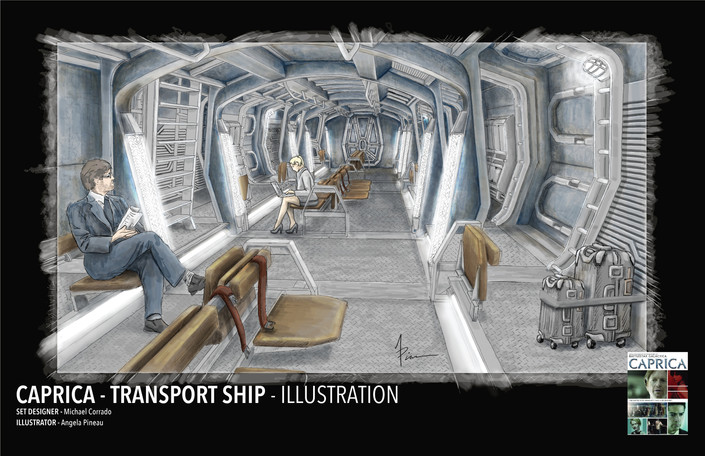CAPRILCA - TRANSPORT SHIP ILLUSTRATION