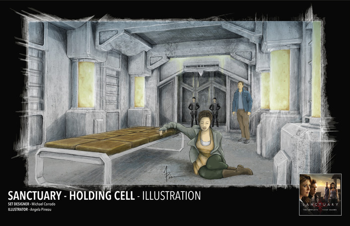 SANTUARY - HOLDING  CELL ILLUSTRATION