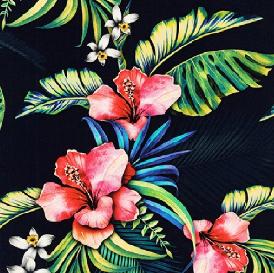 Fabric - Navy Makaha Nights