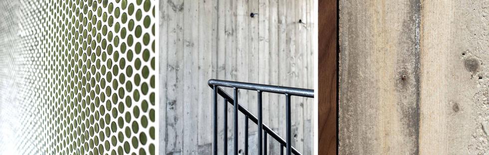 martina hatzenbichler-innenarchitektur-interior design-wien-vienna-architektur-einfamilienhaus-single familiy house-fliesen-tiles-mosaik tiles-round mosaic tiles-runde mosaik fliesen_green_grün_sichtbeton_exposed concrete_stahlstiege_steel stairs